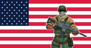 Soldato americano Background immagine stock libera da diritti