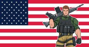 Soldato americano Background fotografie stock