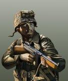 Soldato americano ww2 Fotografie Stock Libere da Diritti