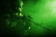 Soldato barbuto delle forze speciali Immagini Stock