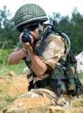 Soldato britannico della ragazza Immagini Stock
