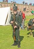 Soldato con il moschetto e la baionetta. Fotografie Stock