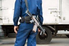 Soldato con la mitragliatrice Immagini Stock