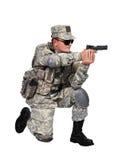 Soldato con la pistola Fotografie Stock