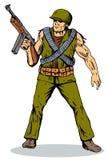 Soldato con la pistola illustrazione di stock