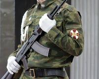 Soldato con la pistola di submachine 3 Immagine Stock