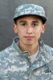 Soldato con un ritratto serio di espressione Immagine Stock Libera da Diritti