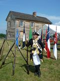 Soldato confederato con la sua arma Fotografie Stock