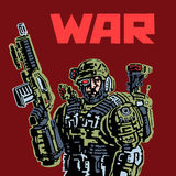 Soldato del cyborg del futuro Fotografia Stock Libera da Diritti