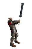 Soldato del folletto con la spada gigante Fotografia Stock