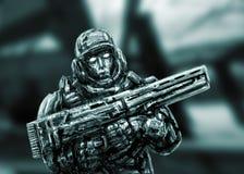 Soldato del futuro Front View royalty illustrazione gratis