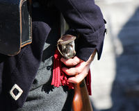 soldato 1800 del ` s With Musket Fotografia Stock Libera da Diritti