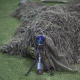 Soldato del tiratore franco Fotografia Stock