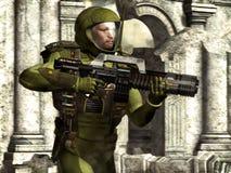 Soldato dell'atronauta Fotografia Stock