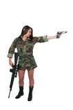 Soldato della donna Fotografia Stock