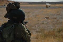 Soldato della fucilazione Fotografia Stock Libera da Diritti