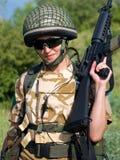 Soldato della ragazza Fotografie Stock Libere da Diritti