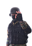 Soldato dello schiaffo Immagini Stock