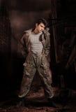Soldato di apocalisse fotografia stock
