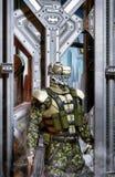 Soldato di cavalleria del soldato del robot Fotografia Stock Libera da Diritti