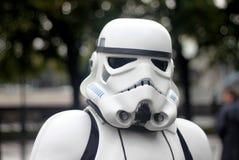 Soldato di cavalleria delle guerre stellari: festival di cosplay a Mosca Fotografie Stock Libere da Diritti