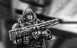 Soldato di futuro Front View illustrazione di stock
