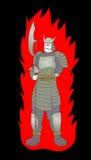 Soldato diabolico Immagine Stock