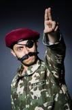 Soldato divertente nei militari Immagini Stock