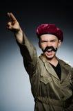 Soldato divertente nei militari Fotografie Stock Libere da Diritti