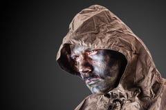Soldato drammatico fotografia stock libera da diritti