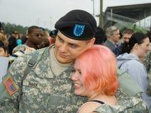 Soldato e la sua moglie Fotografia Stock Libera da Diritti