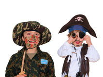 Soldato e Pirat Fotografia Stock