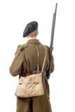 soldato francese degli anni 40, vista posteriore Fotografia Stock