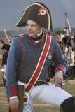 Soldato francese durante la rappresentazione della battaglia di Bailen immagini stock