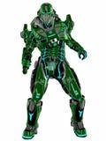 Soldato futuristico illustrazione di stock