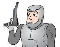 Soldato futuro royalty illustrazione gratis