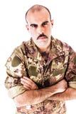 Soldato Glare immagine stock