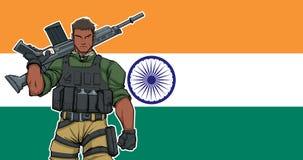 Soldato indiano Background immagini stock