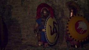 Soldato macedone greco stock footage