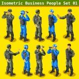 Soldato 01 persone isometriche Fotografie Stock Libere da Diritti