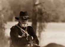Soldato premuroso della guerra civile Fotografie Stock Libere da Diritti