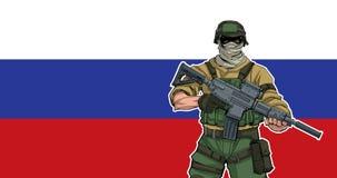 Soldato russo Background fotografia stock