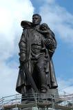 Soldato russo come liberatore Fotografia Stock