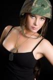 Soldato sexy fotografia stock