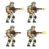 Soldato Shooting Sprite degli Stati Uniti Fotografia Stock Libera da Diritti