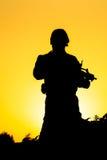 Soldato Silhouette Fotografie Stock Libere da Diritti