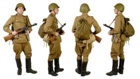 Soldato sovietico in wwii Fotografia Stock Libera da Diritti