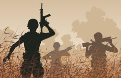 Soldatpatrull Royaltyfri Bild