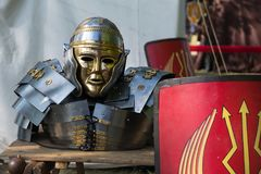 SoldatRoman pansar royaltyfria foton