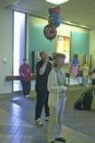 Soldats américains retournant à la maison de la guerre en Irak à l'aéroport 2004, Tucson, Arizona de Tucson Photographie stock libre de droits